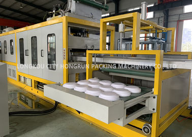 PS Foam Take Away Food Box Making Machine / Plate Forming And Cutting Machine For Meals