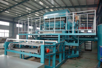 Rotary Type Fruit Tray Production Line , Egg Tray Making Machine