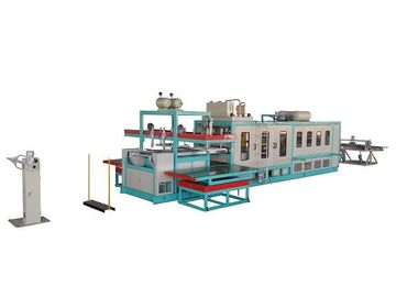 China Disposable Plastic Foam Food Container Making Machine With Color Touch Screen Control supplier