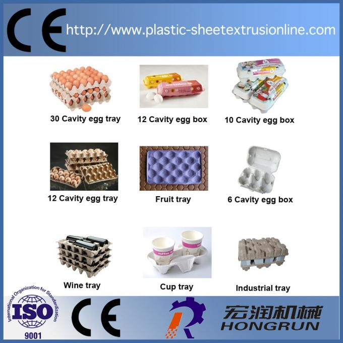 Egg Tray Production Line , Rotary Type Pulp Molding Machine 6000PCS/H egg carton forming machine
