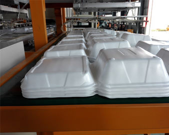 China Disposable Absorbent Styrofoam Tray Making Machine With Robort Arm distributor