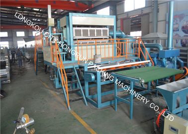 China 4 Side & 4 Mould Pulp Egg Tray Machine With Single Metal Drying Line distributor