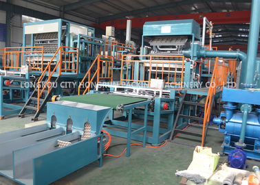 China Eco - Friendly Recycling Egg Carton Machine / Egg Tray Making Machine distributor