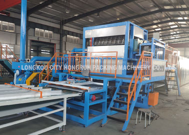 China Recycled Paper Pulp Moulding Egg Carton Machine Automatic Rotaty Drum Type distributor