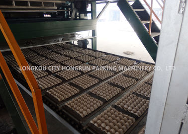 China 220V Automatic Egg Tray Machine With Multi - Layer Dryer Capacity 5000pcs / H distributor