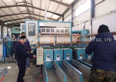 China Blue Color Paper Egg Tray Machine With Multilayer Dryer Dimension 30*6*4M factory