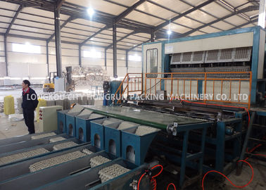 China Automated 8 Faces Rotary Paper Egg Box Machine / Egg Tray Production Line distributor
