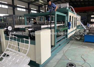 China Automatic PS foam Disabled food container vacuum forming machine distributor